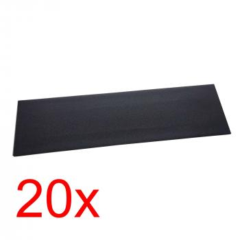 20x Prohibition Skateboard Grip Tape 84x23cm black